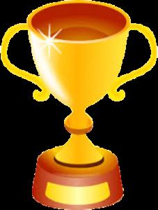 Troféu para um site que gera lucro